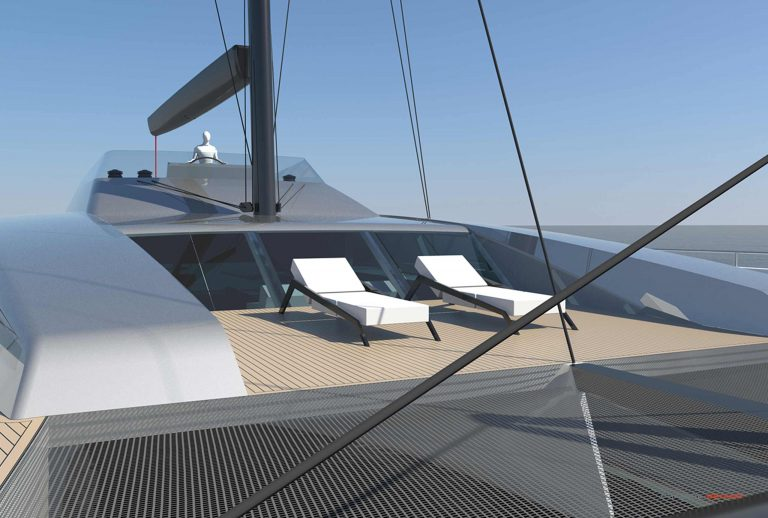 Philippe Briand Catamaran 83 Sailing Yacht interior