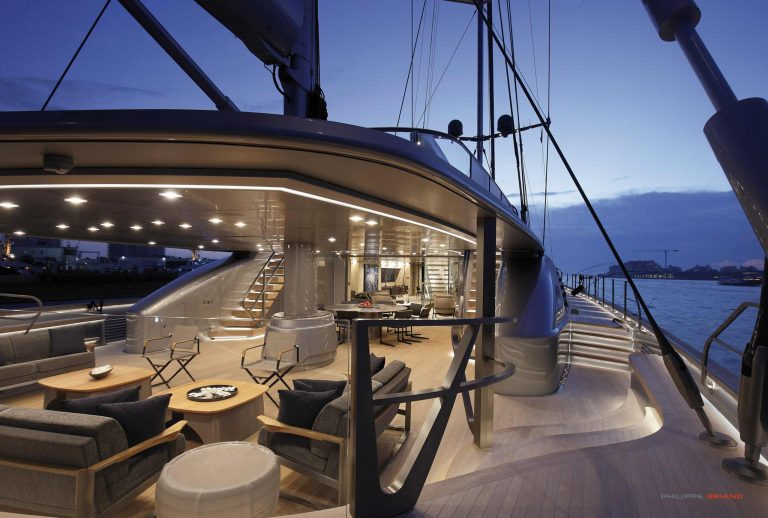 Sybaris yacht deck