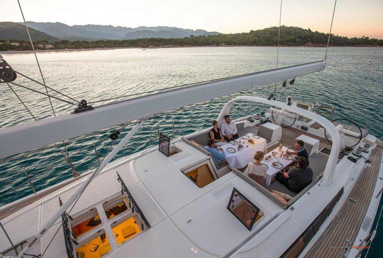 on board Jeanneau